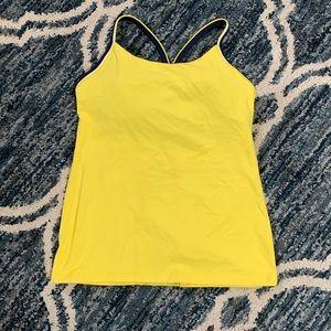Lululemon Yellow Tank with built in bra